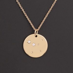 CANCER | Zodiac Coin Dainty Necklace Plated Gold